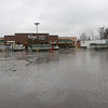 JOHN KLINE | THE GOSHEN NEWS<br /> Water can be seen accumulating in the Kroger parking lot in Goshen Thursday. A flood warning was issued for the city Thursday afternoon after a system of heavy rainfall moved into the area early Thursday morning.