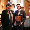 LEANDRA BEABOUT | THE GOSHEN NEWS<br /> Martin Madden was recognized for excellence in leadership by the Elkhart Chamber of Commerce at the annual meeting Friday. Pictured are Rhett Fisher, left, and Martin Madden.