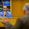 BEN MIKESELL | THE GOSHEN NEWS<br /> Goshen Mayor Jeremy Stutsman listens to concerns on the proposed annexation with Lippert Components Manufacturing Inc. and D-ACT-Z LLC during Tuesday's City Council meeting at the Goshen Police and Court Building.