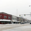 BEN MIKESELL | THE GOSHEN NEWS<br /> Downtown Goshen was covered in snow from Friday as the storm rolled through Elkhart County. By Friday afternoon, some areas of the county reported more than seven inches on the ground.