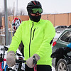 LEANDRA BEABOUT | THE GOSHEN NEWS<br /> Eric Selner, Goshen, stands with his bike, ready for the third annual Ice Cycle to begin.