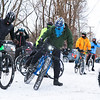 LEANDRA BEABOUT | THE GOSHEN NEWS<br /> Ice Cyle participants prepare to ride.