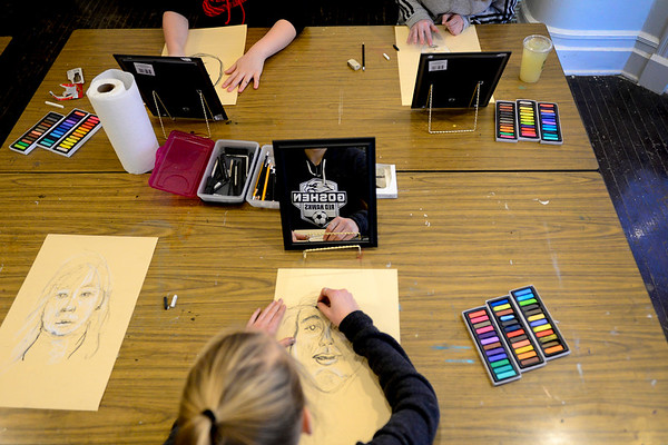 BEN MIKESELL | THE GOSHEN NEWS<br /> Pastel classes at Goshen Youth Arts began this week.