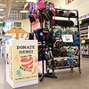 LEANDRA BEABOUT | THE GOSHEN NEWS; The Share the Warmth donation bin at Martin's Super Market on Bashor Rd. sits in front of the deli counter.