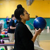 BEN MIKESELL | THE GOSHEN NEWS<br /> Dominique Chew from the Center for Healing and Hope prepares to bowl during the 10th annual Spare Time with the Chamber event Thrusday at Maple City Bowl.