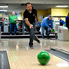 """BEN MIKESELL   THE GOSHEN NEWS<br /> Brent Carrick with First State Bank sends the ball down the lane Thursday during The Goshen Chamber of Commerce's 10th annual Spare Time with the Chamber at Maple City Bowl. The outing brings together different businesses around Goshen to network and compete for the best score. """"We look forward to it every year,"""" Carrick said. """"We've been coming since the beginning."""""""