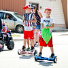 LEANDRA BEABOUT | THE GOSHEN NEWS<br /> Parade participants threw candy out to spectators of Nappanee's annual Fourth of July parade.