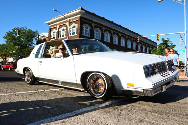 LEANDRA BEABOUT | THE GOSHEN NEWS<br /> Car owners enjoyed the annual night of legal cruising along Main Street for Goshen's Cruisin' Reunion.