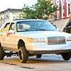 LEANDRA BEABOUT | THE GOSHEN NEWS<br /> Vehicles of all kinds lined Main Street during Goshen's First Friday Cruisin' Reunion.