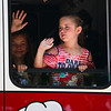 LEANDRA BEABOUT | THE GOSHEN NEWS<br /> Parade participants waved from their vehicles as they passed through the streets during Nappanee's annual Fourth of July parade.