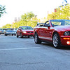 LEANDRA BEABOUT | THE GOSHEN NEWS<br /> Cars lined up along Main Street for Goshen's Cruisin' Reunion First Friday event.