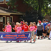 LEANDRA BEABOUT | THE GOSHEN NEWS<br /> The Nappanee Youth Baseball and Softball players led the way in the annual Fourth of July Parade.