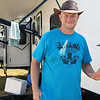 TERRAH HARMON | THE GOSHEN NEWS<br /> Ryan Rickey, Oregon, sells beef jerky at various fairs and venues around the country. Photo taken Thursday, July 19.