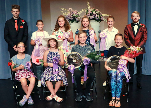 PHOTO CONTRIBUTED<br /> <br /> Junior Division participants in the 2018 Elkhart County 4-H Fashion Revue gather following the July 13 event at NorthWood High School. In the front row, from left, are Hannah Free, Brianna Lechlitner, Jonathan Wesco and Savannah Gregg. In the back row, from left, are Nick Taylor (usher), Zoe Kinnison, Hannah Yoder, Paige Jacobs, Audrey Kinnison and Ryan Diamond (usher).