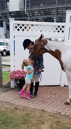 PHOTO CONTRIBUTED<br /> Kisses for Reserve Champion Horse Mya. Rode by Jaidyn Rhodes <br /> Stella Rhodes
