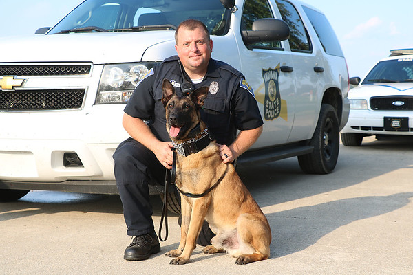 TERRAH HARMON | THE GOSHEN NEWS K-9 officer Chase met his human partner three years ago. Photo taken Thursday June 28, 2018.