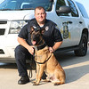 TERRAH HARMON | THE GOSHEN NEWS<br /> K-9 officer Chase met his human partner three years ago. Photo taken Thursday June 28, 2018.