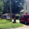 GEOFF LESAR | THE GOSHEN NEWS<br /> An 18-year-old Goshen man, Israel Acosta, was shot at about 3 p.m. Thursday. The victim's mother  visited her son in the ambulance prior to him being taken to the hospital. Acosta was found by police in an alley behind 408 W. Wilden Ave., Goshen.