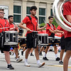 BEN MIKESELL | THE GOSHEN NEWS<br /> The Goshen High School marching band performs during the 2018 4-H Fair Parade Sunday in downtown Goshen.