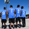 "LEANDRA BEABOUT | THE GOSHEN NEWS<br /> Oscar Beechem, left, and his sons joined together to play a Gus Macker tournament for the first time together. They called their team ""Pops and the Boyz."""