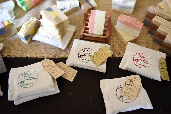 BEN MIKESELL | THE GOSHEN NEWS<br /> Luke and Amber Blakeslee have owned camels on their farm in Milford since 2017, but have been making soaps and lotions with camel milk since 2015.