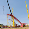 TERRAH HARMON | THE GOSHEN NEWS<br /> The Crazy Mouse ride at the fair requires a crane and a small crew to set it up. Photo taken Wednesday, July 11.