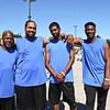 "LEANDRA BEABOUT | THE GOSHEN NEWS<br /> The Beechum family formed their own three-on-three team, called ""Pops and the Boyz,"" for the Gus Macker tournamet in Elkhart. From left: Oscar Sr., Oscar Jr., Ondre and Omari."