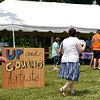 BEN MIKESELL | THE GOSHEN NEWS<br /> The Up & Coming Artists tent at the Arts on the Millrace event features four local youth artists, whose application fees were waived thanks to a Little Big Idea Grant.