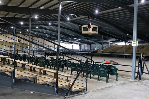 LIZ RIETH | THE GOSHEN NEWS <br /> Rick Welsh, Topeka Livestock Auction owner, built the new horse arena in the fall of 2017.