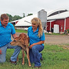 LIZ RIETH | THE GOSHEN NEWS John and Cynthia Addams own about 135 cows at Knollbrook farm.