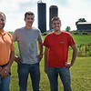 BEN MIKESELL | THE GOSHEN NEWS<br /> The owners of Hoosier Custom Ag, from left, founder Gerald Miller, and brothers Ben and Brad Paulus, operate their custom bailing out of Miller's fourth-generation family farm on C.R. 15.
