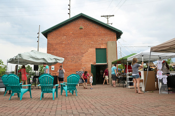 """LEANDRA BEABOUT   THE GOSHEN NEWS<br /> """"Summer Night at the Powerhouse"""" is an annual summer market near downtown Goshen."""