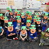 LEANDRA BEABOUT | THE GOSHEN NEWS<br /> Carrie Garber's kindergarten class at West Goshen Elementary School sits for a photo after all of their leprechaun hats are finished.