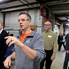 BEN MIKESELL | THE GOSHEN NEWS<br /> Shannon Cooper, the Job Training Instructor for the Crossing School of Business & Entrepreneurship, gives a walkthrough of student involvement Tuesday at Thor Motor Coach's Wakarusa-based factory.