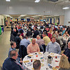 Roger Schneider | The Goshen News<br /> Part of the crowd of 390 people at the Goshen Chamber of Commerce's Founders Day event wait for lunch to be served Thursday.