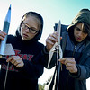 BEN MIKESELL | THE GOSHEN NEWS<br /> Bethany Christian freshman Cameron Comadoll, left, and sophomore Lucas Klopfenstein prepare their rockets for takeoff Friday to round out Bethany Christian's week-long Interterm program.