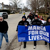BEN MIKESELL | THE GOSHEN NEWS<br /> The March for Our Lives protesters make their way down Fifth Street in Goshen on their way to the Courthouse Saturday.