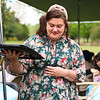 LEANDRA BEABOUT | THE GOSHEN NEWS<br /> Danielle Rice, Elkhart, carries a tray of cookies at the SPA Women's Ministry tea party.