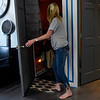 BEN MIKESELL | THE GOSHEN NEWS<br /> Owner Sabrina Klotz enters her salt cave tucked in a small room inside In-Style Salon Wednesday in Goshen. Serenity Salt Cave opened May 14, and prices begin at $10 an hour.