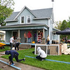 LEANDRA BEABOUT | THE GOSHEN NEWS<br /> A group of volunteers from Assembly Mennonite Church converged on the 500 block of Dewey Ave. for LaCasa's annual Help a House day.