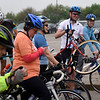 BEN MIKESELL | THE GOSHEN NEWS<br /> Bikers prepare at the start line before ADEC's Ride-A-Bike fundraiser Saturday at Northridge High School in Middlebury.