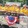 JULIE CROTHERS BEER | THE GOSHEN NEWS<br /> Members of the Syracuse Elementary School drum circle participate in the Memorial Day parade Monday in Syracuse.