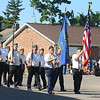 JULIE CROTHERS BEER | THE GOSHEN NEWS<br /> Members of the Milford American Legion Post 226, also known as the Ancil Geiger Post 226, march in Monday's Memorial Day parade.