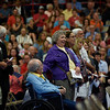 BEN MIKESELL | THE GOSHEN NEWS<br /> The Class of 1968 being recognized before the commencement address.