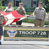JULIE CROTHERS BEER | THE GOSHEN NEWS<br /> Boy Scouts in Troop 728 participate in the Memorial Day parade Monday in Syracuse.