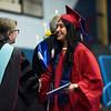 BEN MIKESELL | THE GOSHEN NEWS<br /> Naomi Castro receiving her diploma