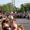 GEOFF LESAR | THE GOSHEN NEWS<br /> <br /> Crowds line Cassopolis Street Thursday evening as they await the arrival of President Donald Trump and his motorcade.