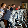 BEN MIKESELL | THE GOSHEN NEWS<br /> People spend Tuesday afternoon casting their ballot in the primary election Tuesday at Grace Community Church in Goshen.