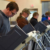 BEN MIKESELL   THE GOSHEN NEWS<br /> Steve Guipe, of Goshen, casts his vote in the midterm election Tuesday afternoon at the Salvation Army in Goshen.