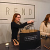 BEN MIKESELL   THE GOSHEN NEWS<br /> Kari Miller, left, co-owns Trend Clothing with her daughter Keirsten and husband Scott. The store celebrated its grand opening Wednesday.